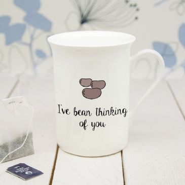 Personalised I've Bean Thinking Of You Bone China Mug